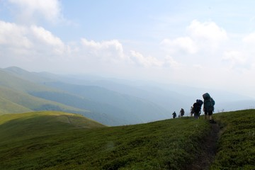 Trekking in the Carpathians mountains