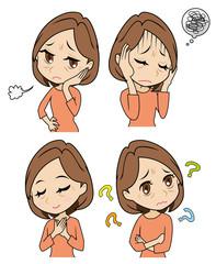 中年女性の感情セット