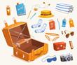 Travel equipment. Vector illustration.
