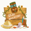 Real Adventure. Vector illustration. - 68713990
