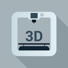 3d printer icon with simple design.