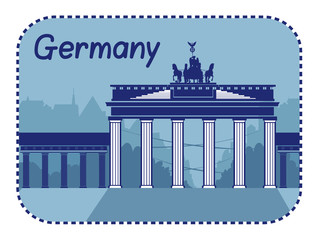 Illustration with Brandenburg Gate in Berlin