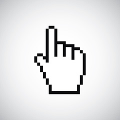 pointer pixel cursor icon.
