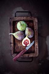 Fresh figs in a rustic kitchen