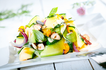 Gourmet Fresh Summer Salad on Table