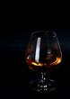 Glowing cognac or brandy in a snifter
