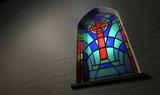 Fototapety Stained Glass Window Crucifix
