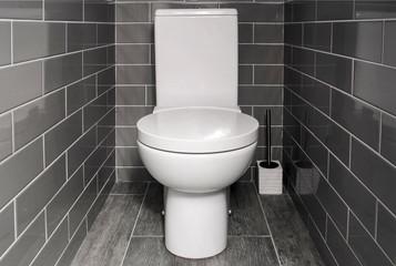 Toilet bowl in a modern bathroom