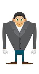 Broad shoulders office man