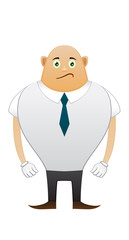 Bald sorrow office man