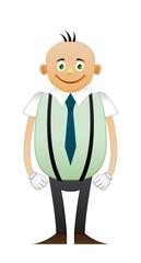 Bald happy office man