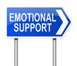 Emotional support concept.
