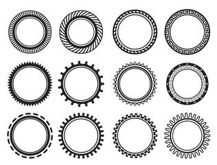 Set nice old-fashioned circle