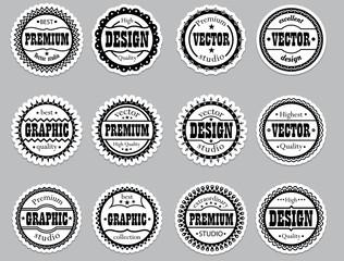 """Set icons """"Premium, design, vector, graphic"""""""
