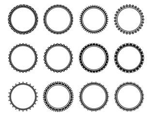 Black and white nice circle