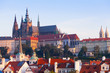 View of the historical districts of Prague