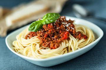 Traditional spahgetti Bolognaise or Bolognese