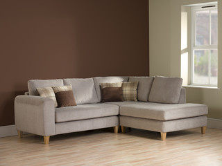 Interior view of livingroom corner sofa