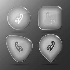 French curve. Glass buttons. Vector illustration.