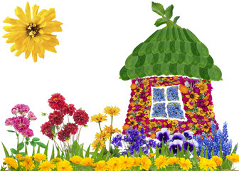 Floral eco house concept