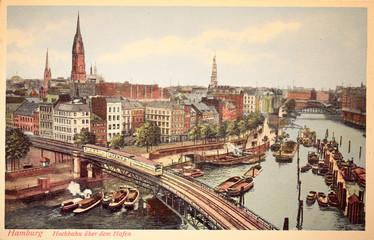 old postcard views of Hamburg