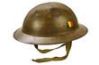 World War One helmet isolated on white