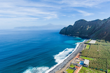 Ocean beach at La Gomera island. Canary islands, Spain