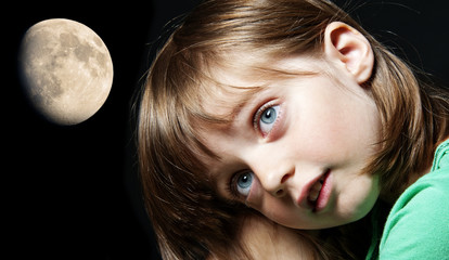 little girl and moon - bad dreams