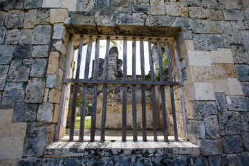 Old window in a church in Oslob, Philippines.
