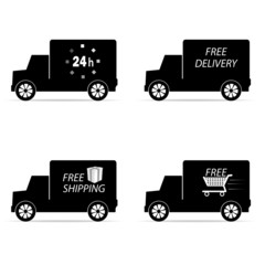 delivery icon truck and shipping vector illustration