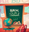 School card \ poster design. Vector illustration.