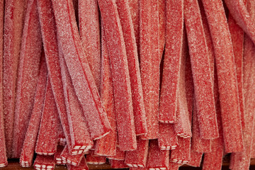 rote Fruchtgummi, Stange