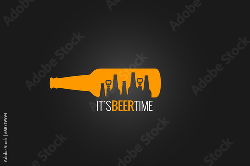beer bottle concept design background - 68719594