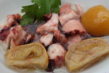 Poulpe au Citron confit - Tapas