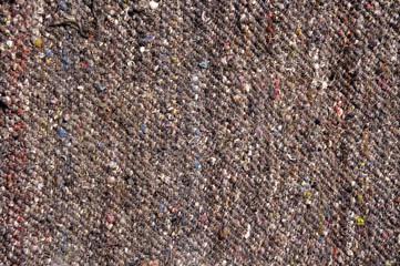 Dark brown woolen rug