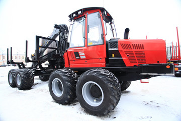 Vologda RUSSIA DEC 5 Exhibition of heavy equipment