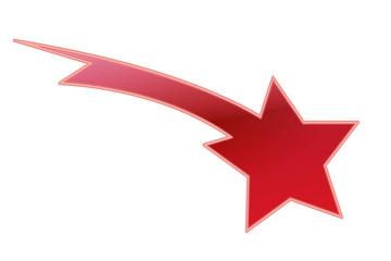 Sternschnuppe - Rot