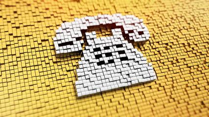 Pixelated phone
