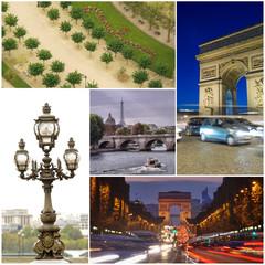 collage set of Paris images