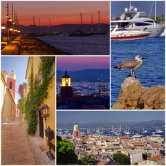 collection of Saint Tropez France photos