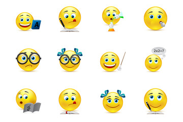 funny smiley collection on the topic: teaching and learning in s