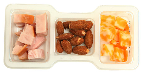 Protien Snack Pack with Cheese, Turkey and Almonds