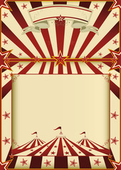 Red and cream circus poster