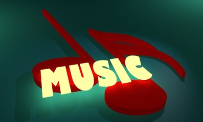 music neon text and note sign