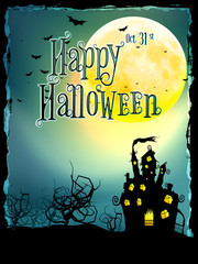 Halloween Background with haunted house. EPS 10