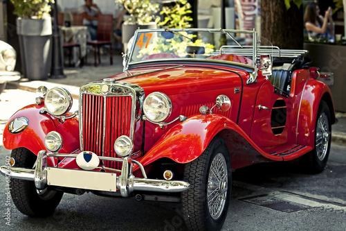 Poster Vintage cars auto d'epoca in esposizione