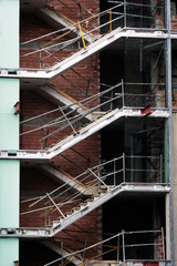 staircase on unfinished building