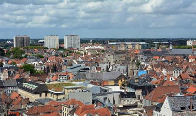 Vue aérienne de la ville de Gand