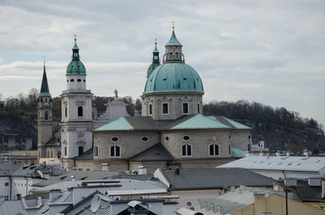 Baroque church from top view