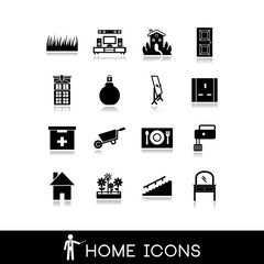 Home icons - House furniture - Vectors set